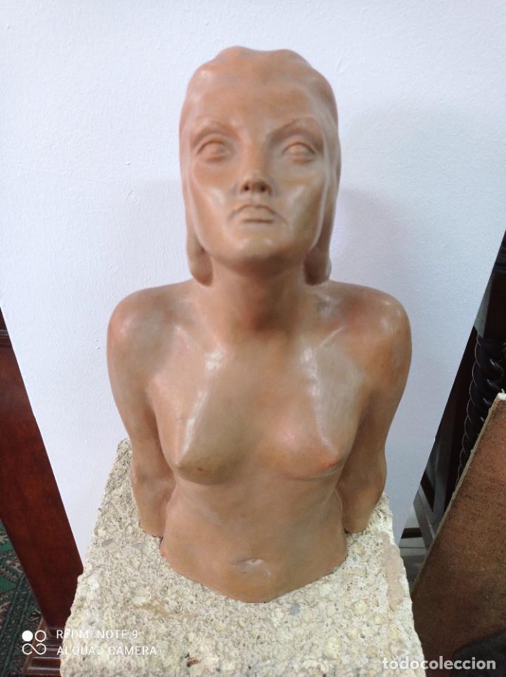 Arte: Escultura en terracota del escultor canario Enrique Cejas Zaldívar. Canarias - Foto 3 - 289651903