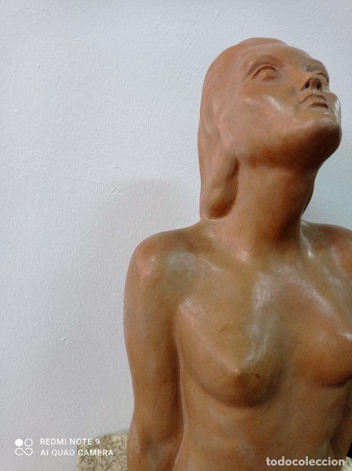 Arte: Escultura en terracota del escultor canario Enrique Cejas Zaldívar. Canarias - Foto 4 - 289651903