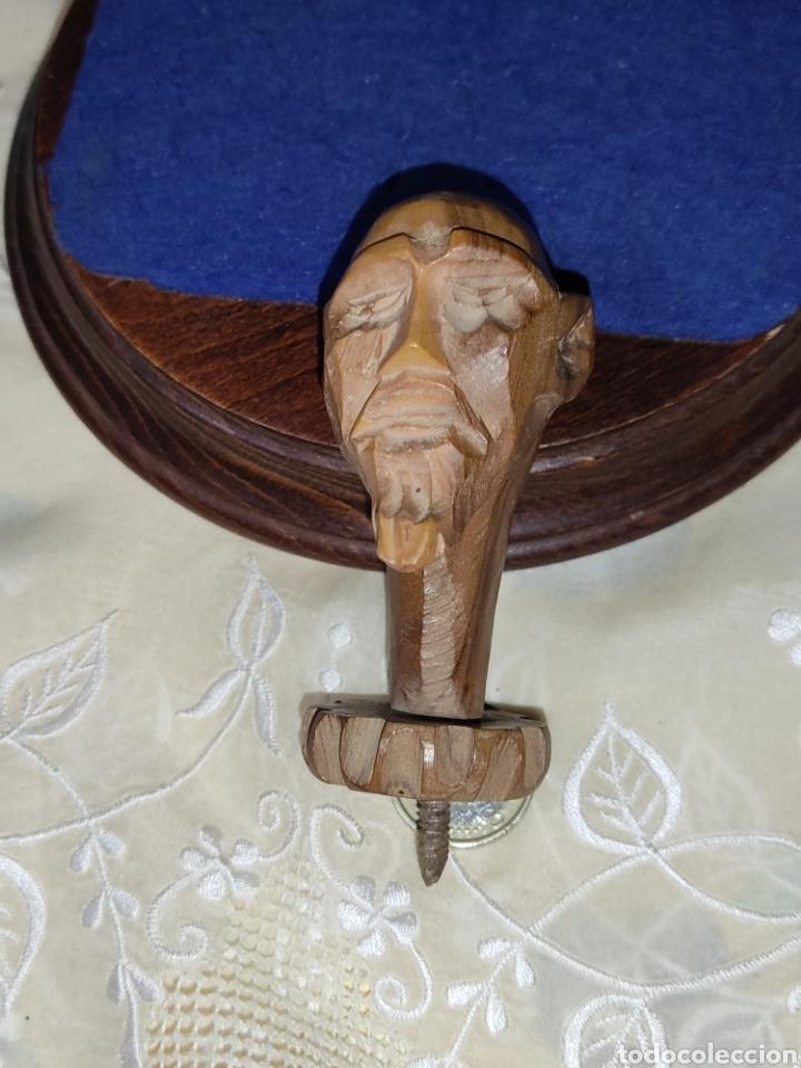 Arte: Antiguo mango de Don Quijote tallado en madera para bastón o varios - Foto 5 - 289770578