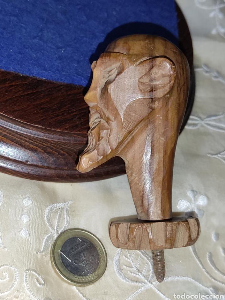 Arte: Antiguo mango de Don Quijote tallado en madera para bastón o varios - Foto 9 - 289770578