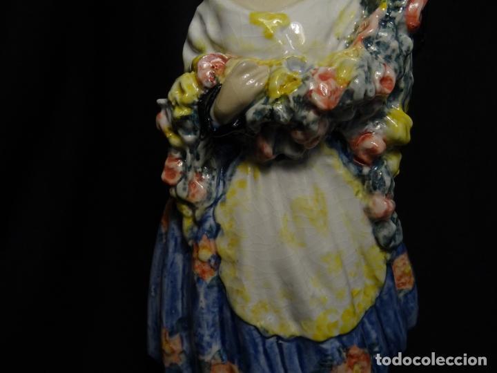 Arte: 34,5 CMTS.- ANTONIO PEYRO. (1881- 1954) FIGURA EN CERAMICA VIDRIADA. FALLERA VALENCIANA. FIRMADA - Foto 5 - 289827313