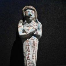 Arte: USHEBTI EGIPCIO DE LOZA ( 30 ×7 ×4 CM.). Lote 293834323