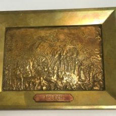Arte: BAJO RELIEVE DE BRONCE ,APLECH CARLISTA EN MONTSERRAT. FINALES DEL SIGLO XIX.. Lote 294566983