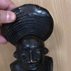 Arte: ESCULTURA AFRICANA DE JINETE. EN BRONCE. SIGLO XX?. Lote 294836678