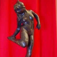 Arte: EDGAR DEGAS, (D'APRÈS),BRONZE FONTE CIRE PERDUE + OU- 43 CM PATINE MÉDAILLE. Lote 295303418