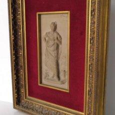 Arte: PLACA RELIEVE EN BARRO POR ANTONIO DE LAS PEÑAS Y LEÓN , GRANADA 1815 - SEVILLA 1887. Lote 295717753