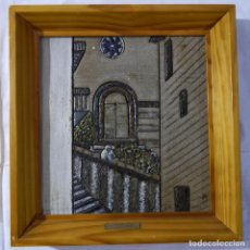 Arte: CERÁMICA ENMARCADA MUY GRUESA, 5 KILOGRAMOS DE PESO, C. MOROTE. Lote 295856858