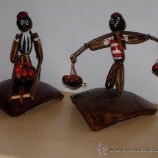Arte Étnico: FIGURAS DE ARTESANÍA BRASILEÑA ELABORADAS CON SEMILLAS Y PARTES DE FRUTAS, DE UNOS 7X7 CM. EN MATERI. Lote 26062154