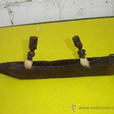 Arte Étnico: CANOA Y 2 HOMBRES EN EBANO. Lote 13417509