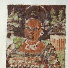 Arte: BATIK ORIGINAL , FIRMADO Y TITULADO DE RUTH HOLMES. Lote 3289675