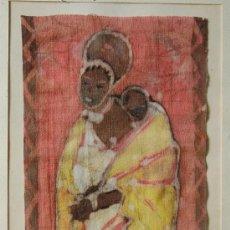 Arte: BATIK ORIGINAL , FIRMADO Y TITULADO DE RUTH HOLMES. Lote 16533568