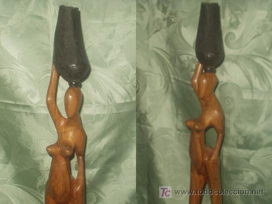 Arte: TALLA AFRICANA EN MADERA - Foto 2 - 27546583