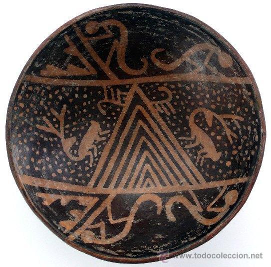 CUENCO CERÁMICO PRECOLOMBINO - COLOMBIA - REGIÓN ARAUCA (Arte - Étnico - América)