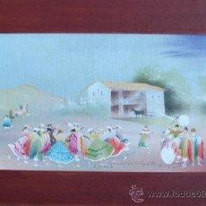 Arte: ARTE ANDINO: CARNAVAL EN COTAGAITA, BOLIVIA. OLEO SOBRE CARTON ENTELADO.. Lote 26666503