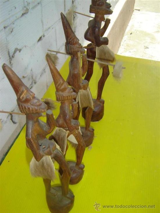 Arte: 5 figuras en maderas africanas - Foto 3 - 13345851