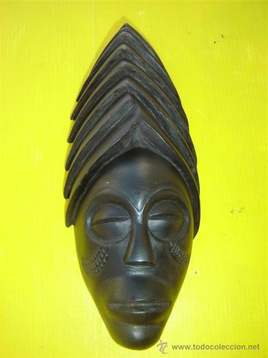 MASCARA AFRICANA MADERA OSCURA (Arte - Étnico - África)