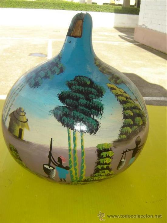 Arte: calabaza pintura africana - Foto 2 - 13348580