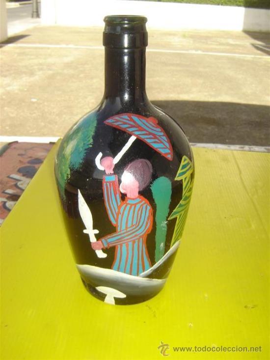 Arte: botella cristal pintura africana - Foto 2 - 13348583