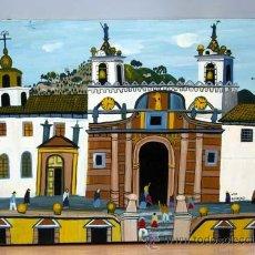 Art: SAN FRANCISCO DE QUITO LUIS MILLINGALLI ACRÍLICO SOBRE PIEL 1986 ECUADOR. Lote 21217138