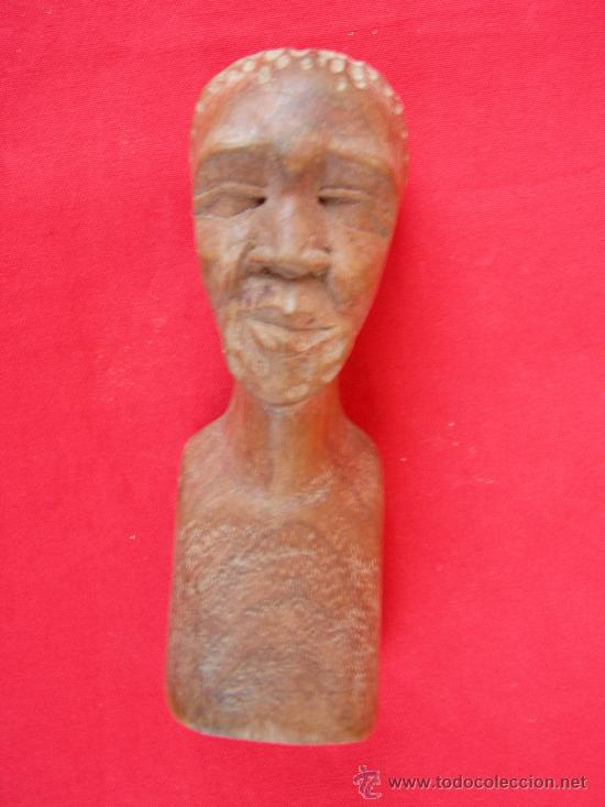 ARTE AFRICANO. FIGURA TALLADA EN MADERA (Arte - Étnico - África)