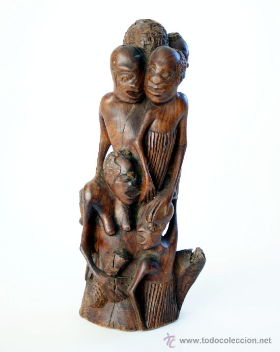CURIOSA ESCULTURA ANIMISTA AFRICANA TALLADA EN ÉBANO (Arte - Étnico - África)