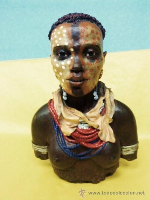 ABORIGEN.- TRIBES OF THE WORLD / TRIBUS DEL MUNDO - ALTA CALIDAD- CABEZA PINTADO A MANO.- VER FOTO (Arte - Étnico - África)