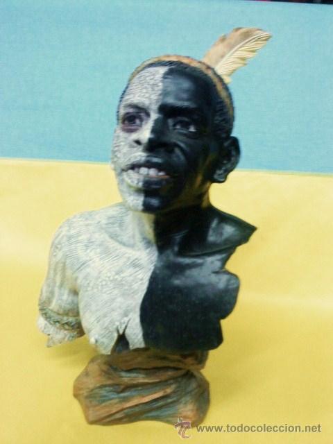 ABORIGEN.- TRIBES OF THE WORLD / TRIBUS DEL MUNDO.- ALTA CALIDAD- CABEZA PINTADO A MANO.- VER FOTO (Arte - Étnico - África)