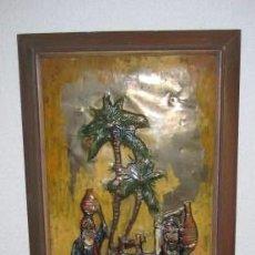 Arte: CUADRO PINTADO SOBRE COBRE. TANGER-MARRUECOS. AÑOS 80. ENVIO CERTIFICADO GRATIS¡¡¡. Lote 27387786