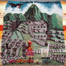Arte: TAPIZ PERUANO ARTESANAL MACHU PICHU. Lote 26578580