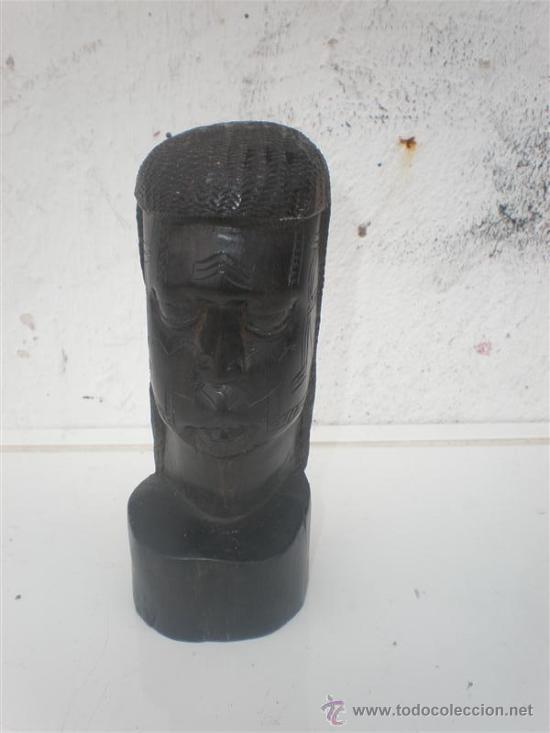 BUSTO AFRICANO EN EBANO (Arte - Étnico - África)
