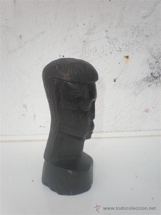 Arte: busto africano en ebano - Foto 2 - 25476792