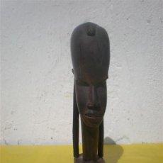 Arte: BUSTO AFRICANA MADERA EXOTICA. Lote 25714264