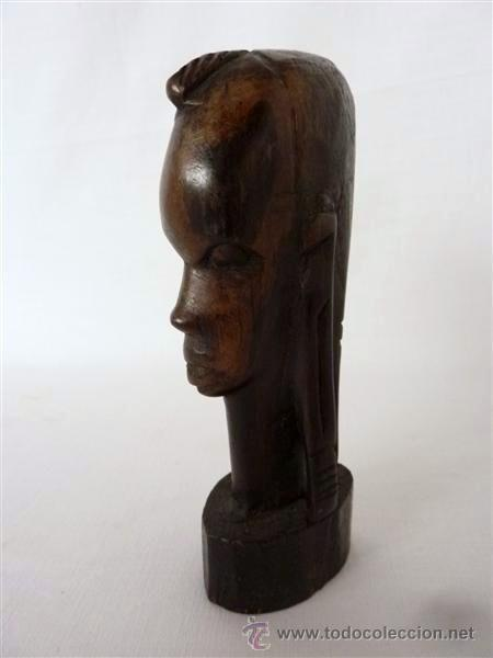BUSTO AFRICANO EN MADERA EXOTICA (Arte - Étnico - África)