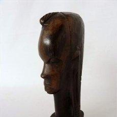 Arte: BUSTO AFRICANO EN MADERA EXOTICA. Lote 26259947