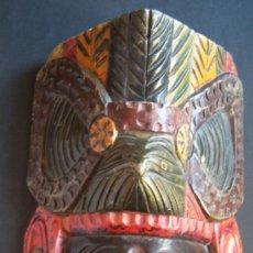 Arte: MÁSCARA INDOAMERICANA DE MADERA MACIZA. 30 CM DE LARGO X 17,5 DE ANCHO. BOLIVIA. Lote 28035380