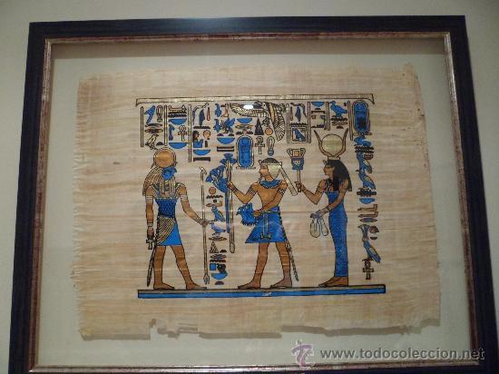 3 pergaminos egipcios enmarcados ver fotos de comprar for Enmarcar fotos online