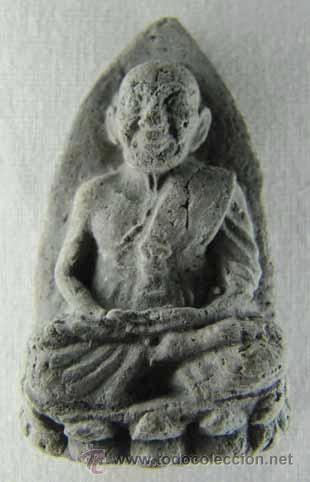 AMULETO BUDISTA TAILANDÉS REALIZADO EN CERÁMICA (Arte - Étnico - Asia)