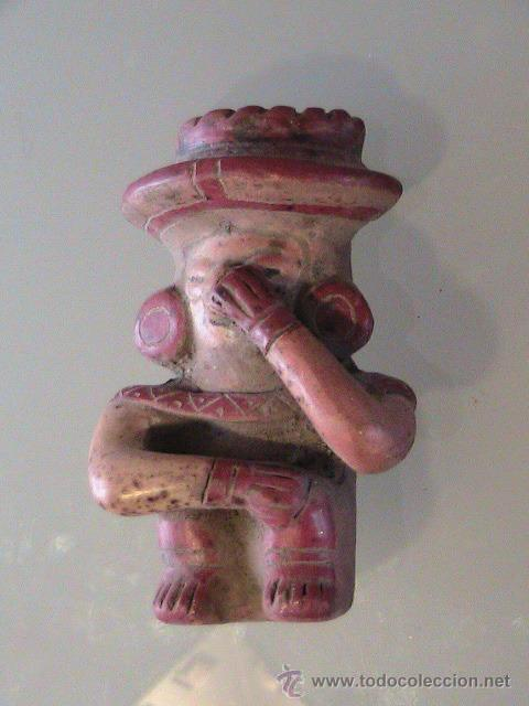 DIOS PRECOLOMBINO FIGURA TERRACOTA (Arte - Étnico - América)