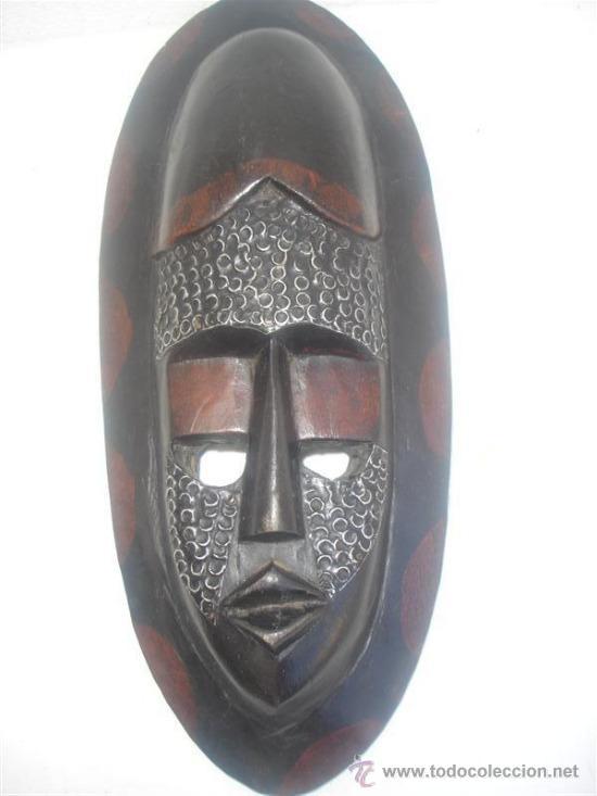 Arte: mascara africana madera tanzania - Foto 3 - 30942130