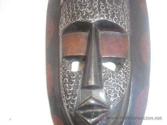 Arte: mascara africana madera tanzania - Foto 4 - 30942130