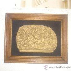 Arte: CUADRO CON GRABADO DE PIEDRA INDU. Lote 30942184