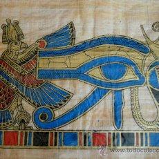 Arte: OJO DE HORUS , ALFABETO JEROGLIFICO ,ETC... - 12 PAPIROS EGIPCIOS ANTIGUOS. Lote 31021307