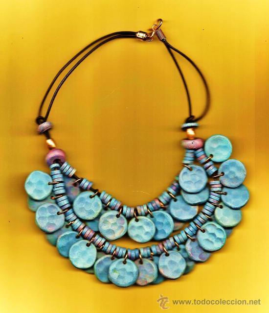 0d45b035 bisuteria - collar gargantilla - madera - cuerda corredera - artesanal -  argelia / tunez o similar
