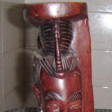 Arte: FIGURA AFRICANA DE MUJER TALLADA A MANO MADERA NOBLE PROCEDENCIA DE BURKINA FASO. Lote 31528512