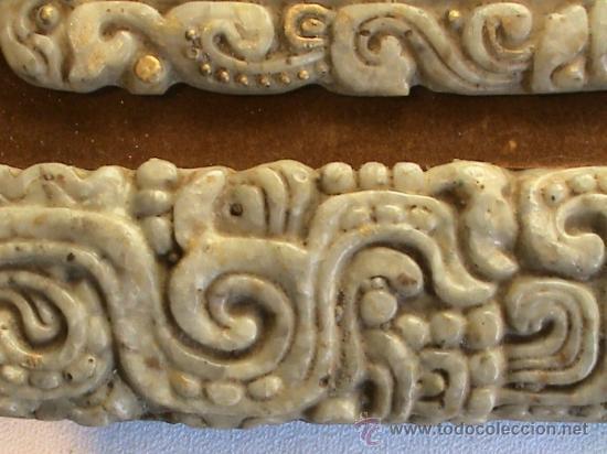 Arte: Cuadro de origen mejicano en alabastro con jeroglíficos mayas. - Foto 3 - 31889875