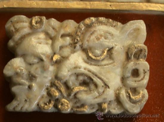 Arte: Cuadro de origen mejicano en alabastro con jeroglíficos mayas. - Foto 4 - 31889875