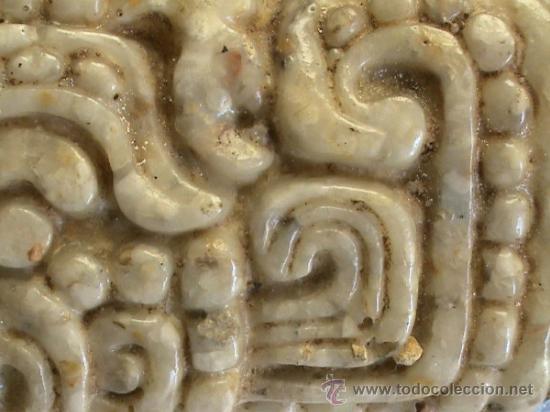 Arte: Cuadro de origen mejicano en alabastro con jeroglíficos mayas. - Foto 5 - 31889875