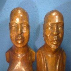Arte: BUSTOS AFRICANOS EN MADERA PRINCIPIO AÑOS 80. Lote 32461868