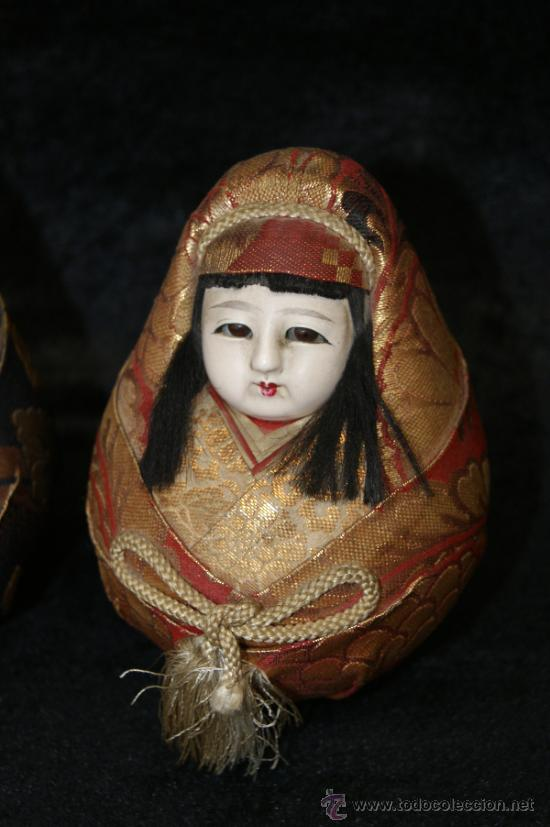Arte: Pareja de muñecas orientales, con cabeza de celuloide, y trapo. - Foto 3 - 32462300