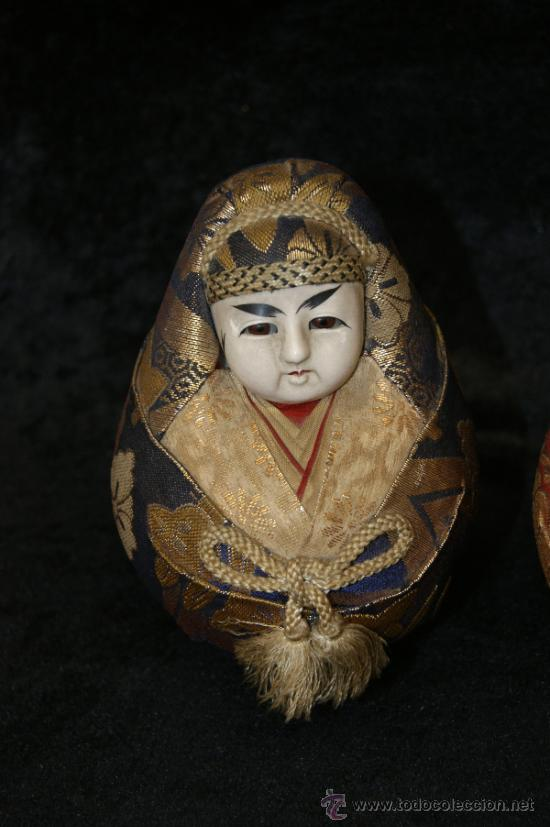 Arte: Pareja de muñecas orientales, con cabeza de celuloide, y trapo. - Foto 4 - 32462300